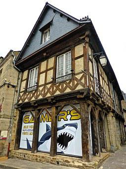Half Timbered, Building, Wooden, Structure, Medieval