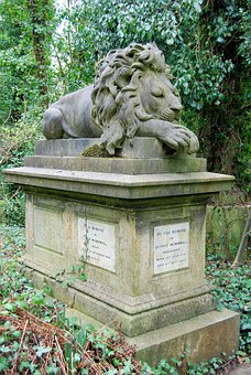 Cemetery, Tombstone, Grave, Sculpture, Monument, Lion