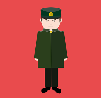 Officer, Soldier, Military, Grumpy, Ernst, Man, Human