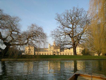 Cambridge, Old, College, University, Architecture