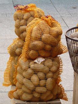 Potatoes, Potato Sack, Vegetables, Potato, Food