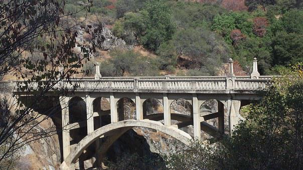 Bridge, Ravine, Cross-over, Passage, Architecture, Arch