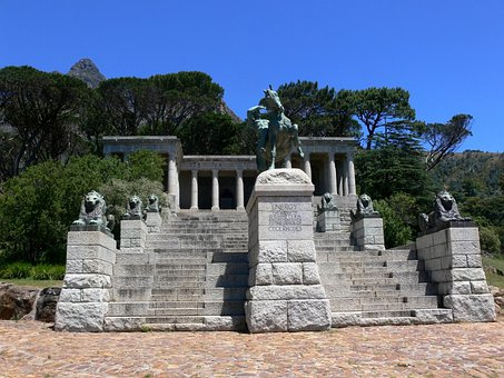 Rhodes Memorial, Statue, Monument, Pillars, Lions