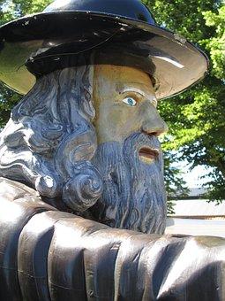 Rosenbom, Karlskrona, Sweden, Statue, Wooden