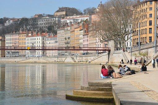 Lyon, Wharf, Lionnel, Saône, River, Bridge