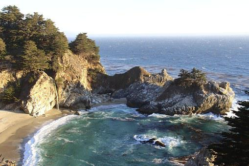 Julia Pfeiffer Burns, Booked, Sea, State Park, Usa