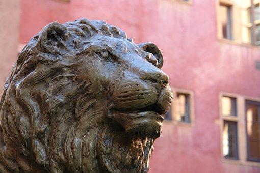 Lyon, Statue, Bronze, France, Monument, Street, History