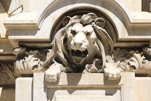Lion, Statue, Statue Of A Lion, Monument, Building