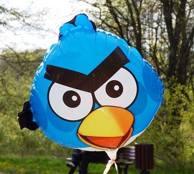 Angry Birds, Balloon, Bird, Birds, The Cartoon