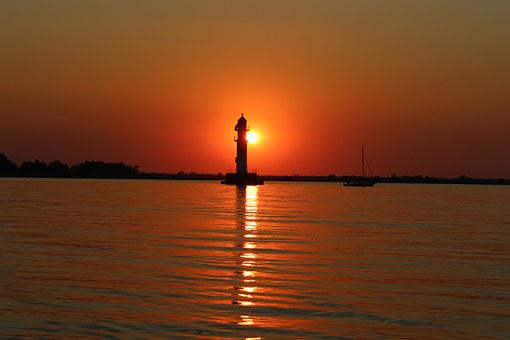 River, Sunset, Lantern, Water, Summer, The River Odra