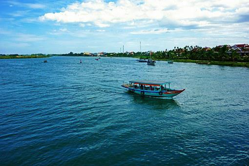 Vietnam, Lonely, Isolated, Boat, Ship, Summer, Tropical