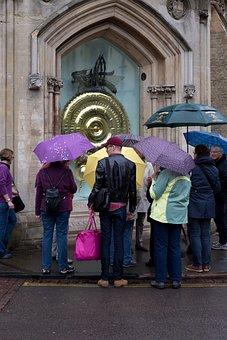 Umbrellas, Rain, Cambridge, Cambridgeshire, University