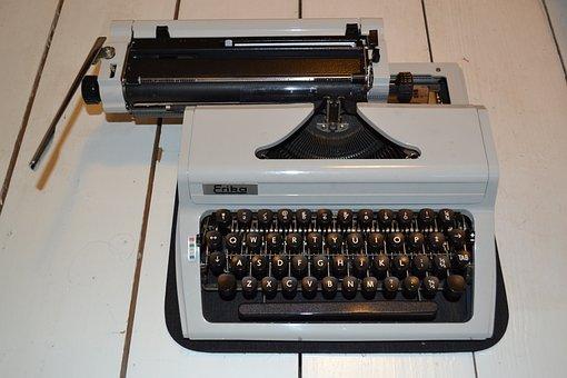 Typewriter, Old School, Vintage, Old, School, Retro