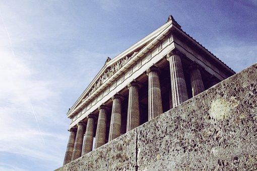 Building, Architecture, Columnar, Walhalla