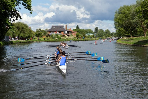 Rowers, Rowing Boats, Water Sports, Cambridge