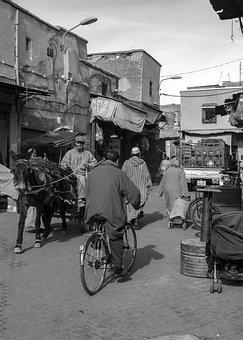 Morocco, Marrakesh, Streets, Marrakech, Travel, Africa