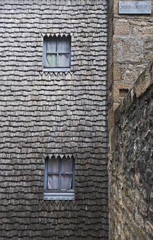 Mont Saint Michel, Architecture, Windows, Tiles