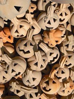 Ceramic, Figures, Pumpkin, Pottery, Arts Crafts