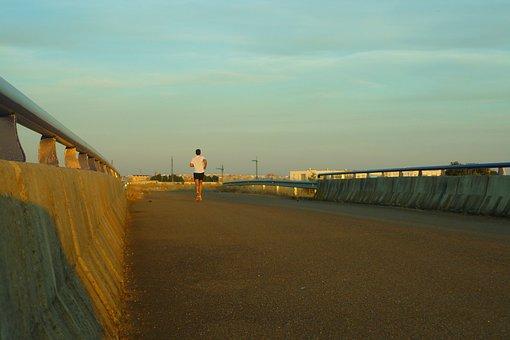Corridor, Athlete, Bridge, Gateway, Sunset, Career