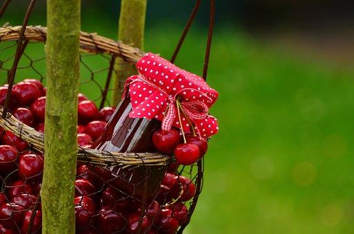 Cherries, Cherry Jam, Fruits, Sweet Cherry