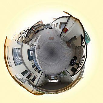 World, Three Hundred Sixty, Courtyard, Garage, Houses