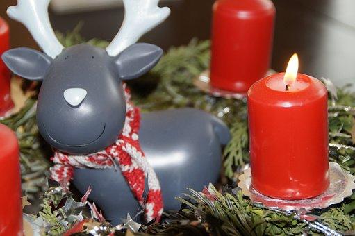 Advent, Advent Wreath, Wreath, Decorated