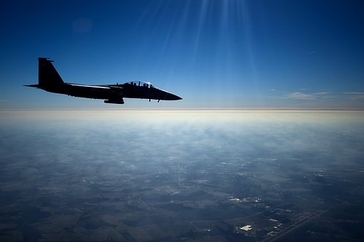 Us Air Force, F-15e, Strike Eagle, Aircraft, Jet