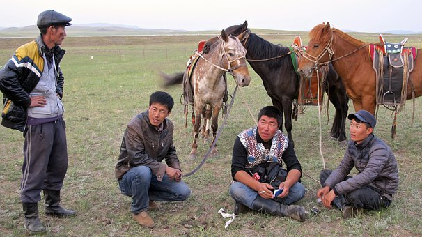 Inner Mongolia, Cowboys, Horses, Horse, Sky, History