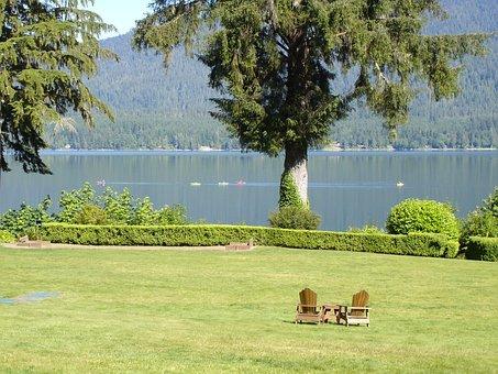Kayaks, Lake Quinault, Lakes, Lake, Water