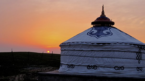 Inner Mongolia, Sunset, Tranquility, Seclusion, Retreat
