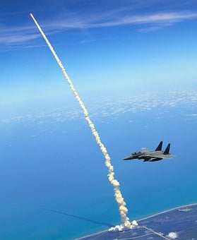 Rocket Launch, Space Shuttle, Atlantis, Start, F 15e