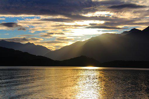Sunset, Tranquil, Scenic, View, Beautiful, Sea, Cruise