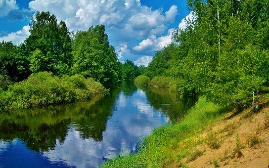 River, Snopot, Kaluga, Area, June, 2012