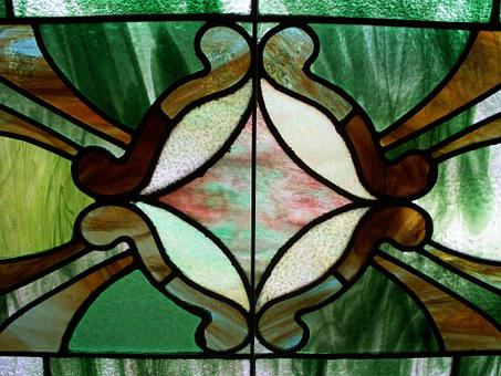 Stained-glass, Green, Window, Pattern, Stained, Glass