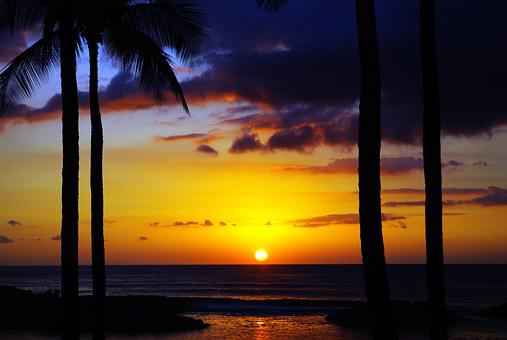 Sunrise, Hawaii, Sunset, Sea, Travel, Tropical, Sky