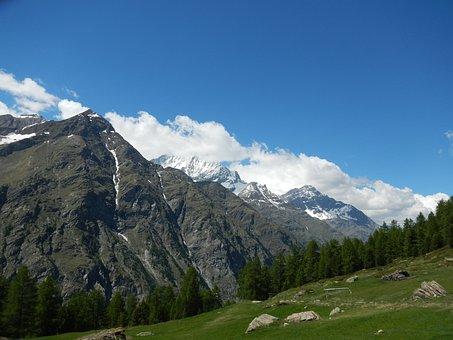 Mountain, Switzerland, Superb View, Landscape, Apls