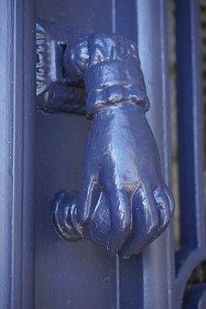 Knocker, Handle, Hand, Metal, Urban Design, Door, City
