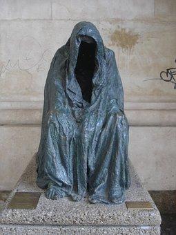 Statue, Bronze, Street Statue, Bronze Statue, Veil