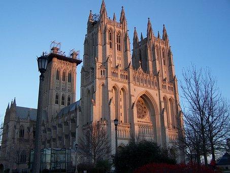 National, Cathedral, Architecture, Washington, Dc