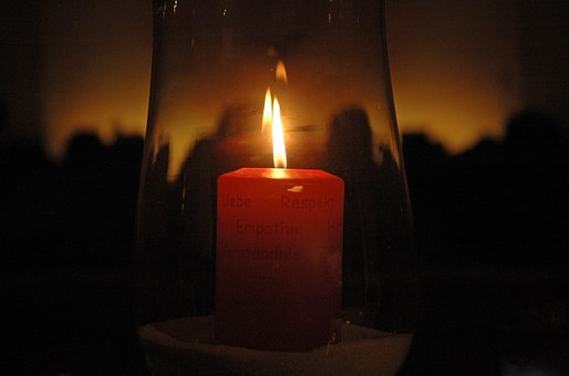 Candle, Wick, Wax, Wax Candle, Red, Advent, Quiet