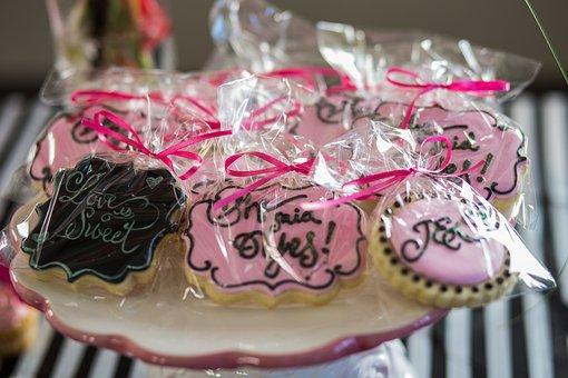 Cookies, Wedding, Bridal Shower, Dessert, Sweet, Sugar