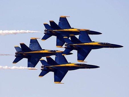 Show, Air, Miramar, Performing, Angels, Blue, Aircrafts