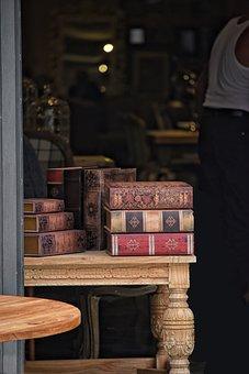 Antique Dealer, Books, Old Books, Bookseller, Binders