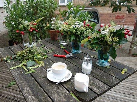 Florist, Flowers Binder, Break, Flowers, Table