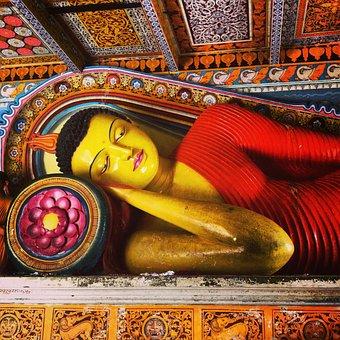 Buddha, Reclining Buddha, Sri Lanka, Religion, Buddhism