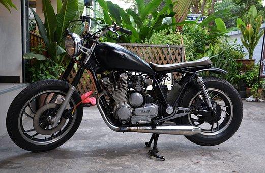 Motorbike, Yamaha, Motorcycle, Chopper, Custom, Machine
