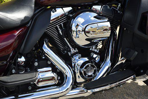 Motorcycle, Engine, Chrome, Shiny, Clean, Motor