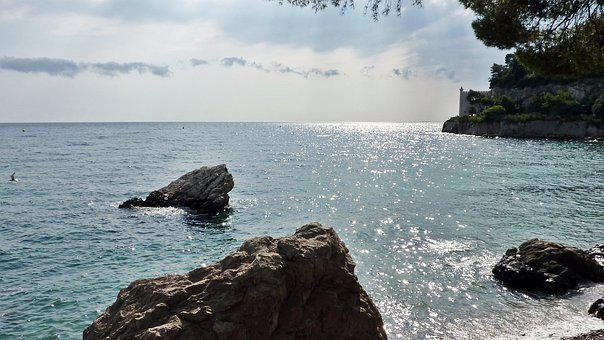 Rock, Sea, Coast, Miramare, Castle, Bay, Italy