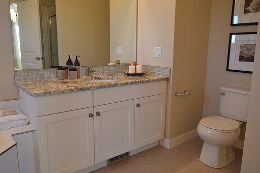 Bathroom, Vanity, Toilet, Counter, Room, Mirror, Sink