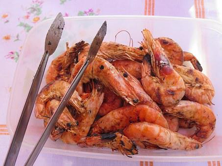 Shrimps, Bbq, Food, Dinner, Grill, Barbecue, Prawn
